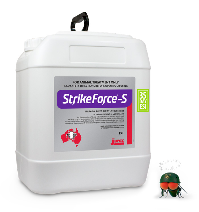 Drum of StrikeForce-S Spray-On Sheep Blowfly Treatment